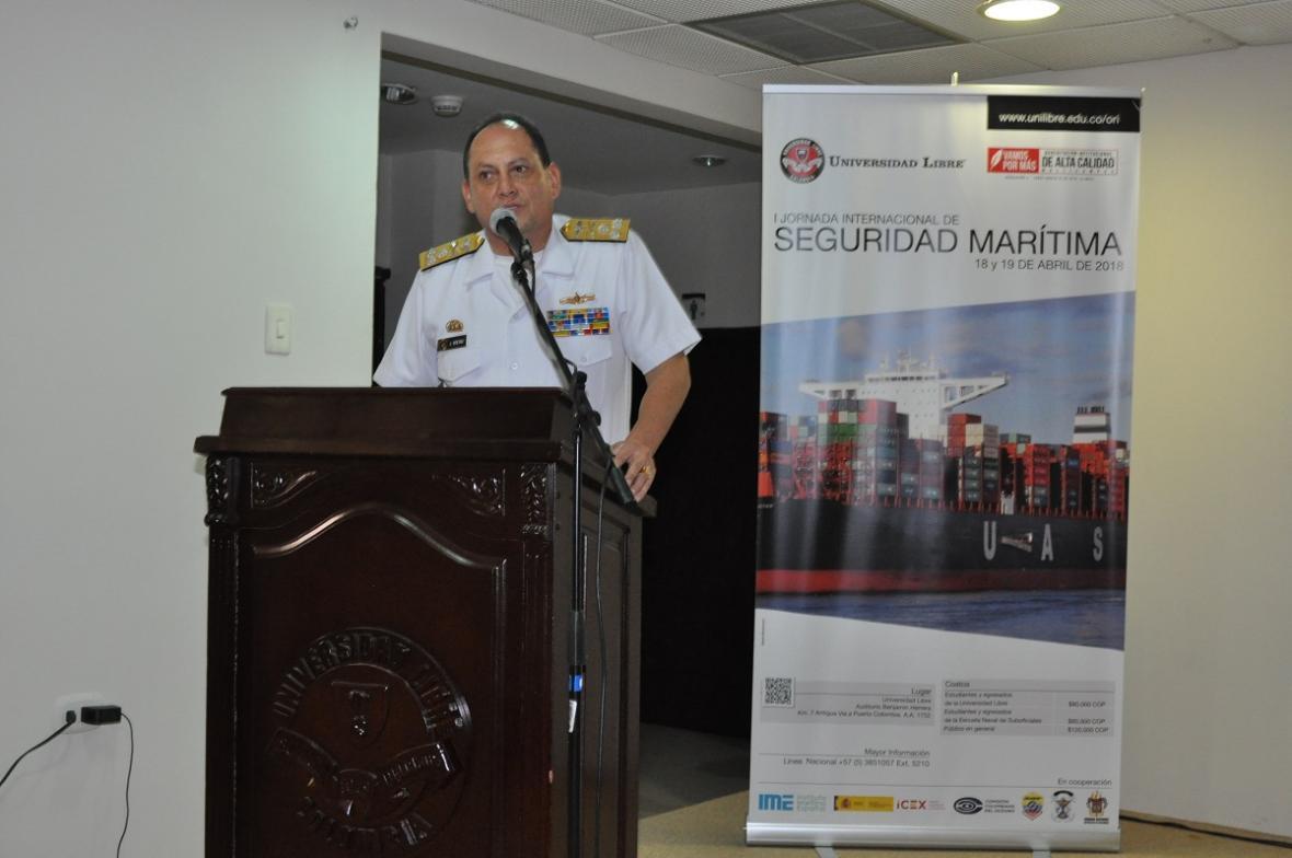 Vicealmirante Juan Manuel Soltau Ospina, jefe de jefaturas de Intereses Marítimos de la Armada Nacional.