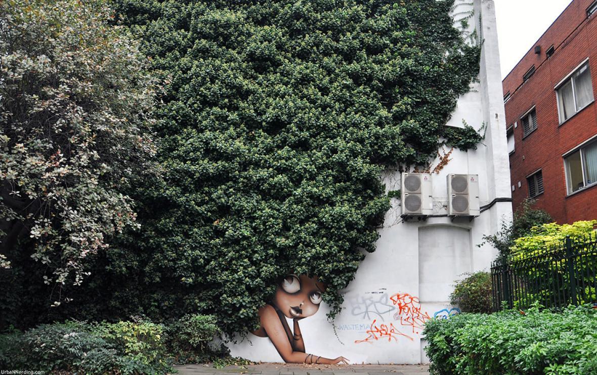Mural de Vinie en Londres, Inglaterra.
