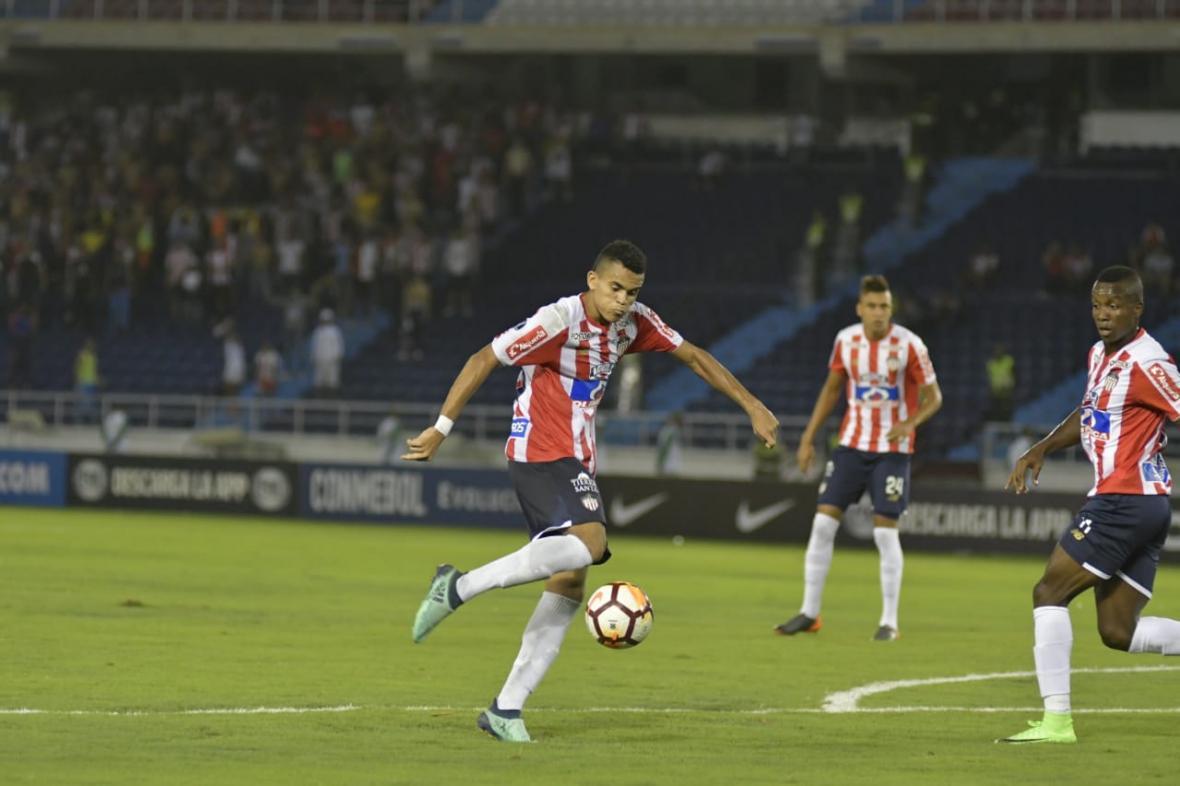 El remate de Luis Díaz que significó el único gol de Junior durante los 90 minutos.