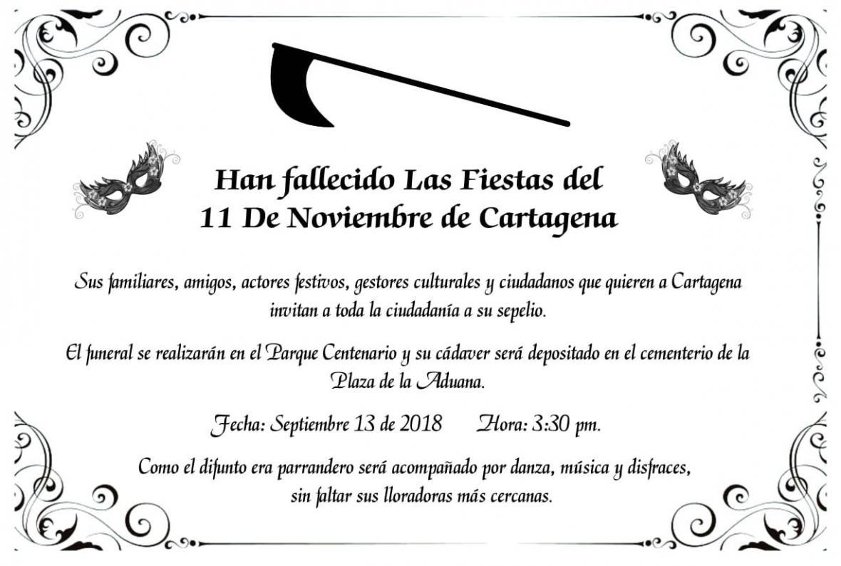 Afiche de la invitación a la marcha por las fiestas.