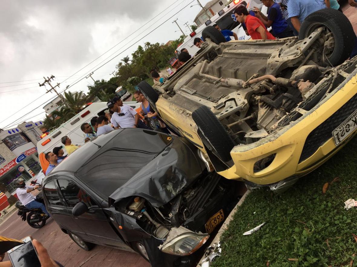 El accidente se registró en horas de la tarde de este viernes 28 de septiembre.
