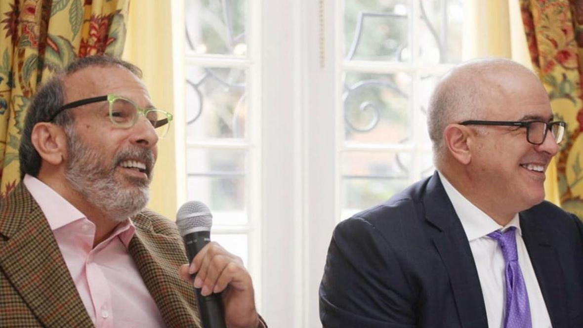 Juan Manuel Daes junto a Christian Daes.