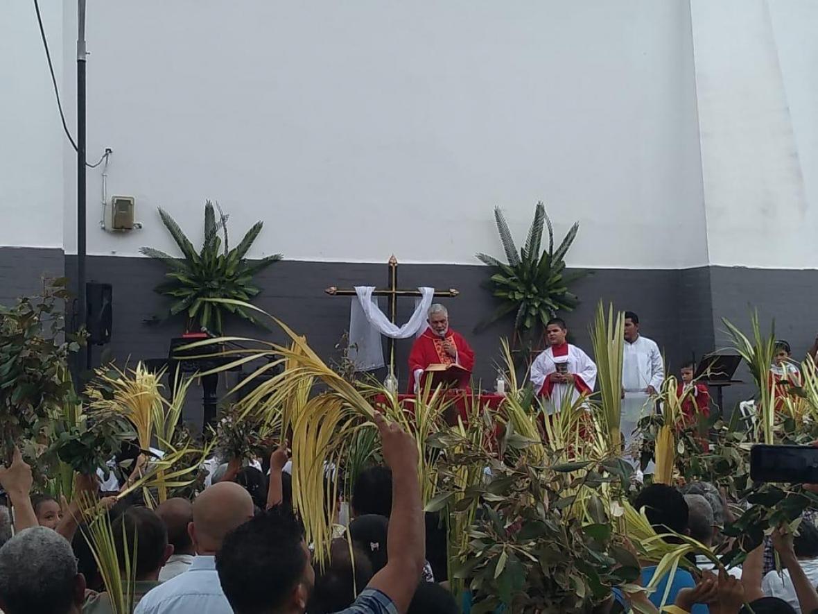 Domingo de Ramos en Galapa.