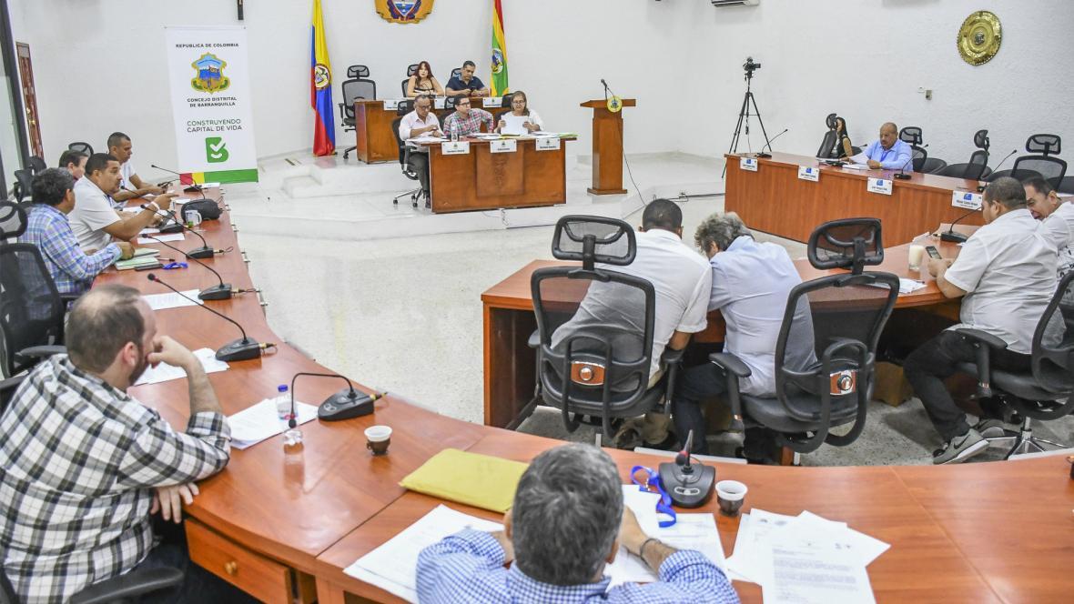 Aspecto de la sesión del Concejo Distrital que se llevó a cabo ayer.