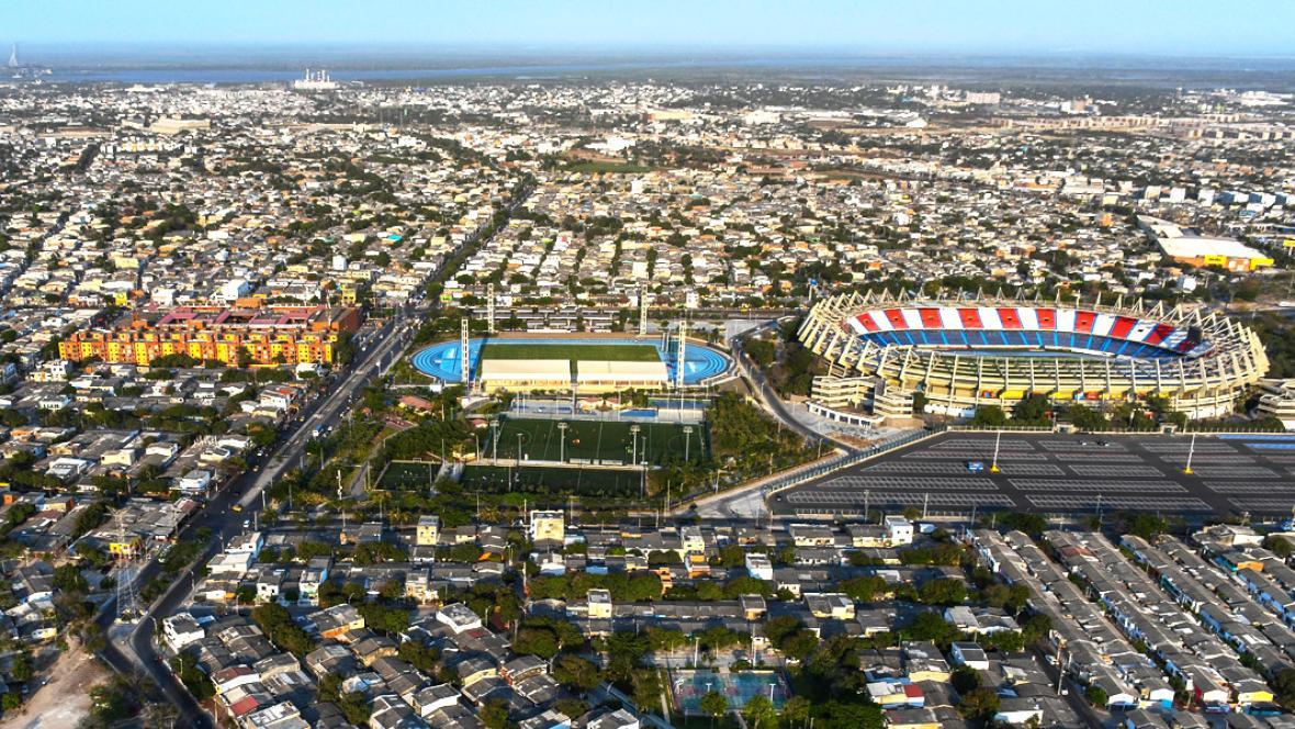 Vista panorámica del Estadio Metropolitano, orgullo de los habitantes de la Ciudadela 20 de Julio.