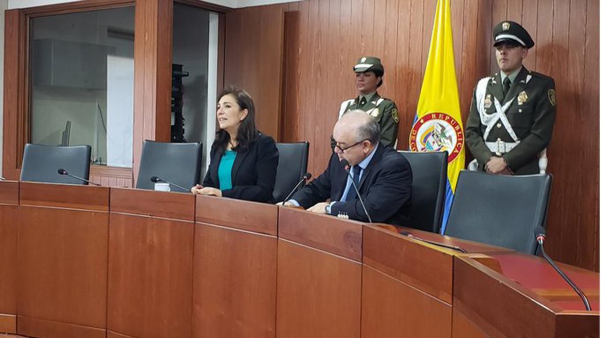 Magistrados Gloria Ortiz y José F. Reyes explican la sentencia unificada.