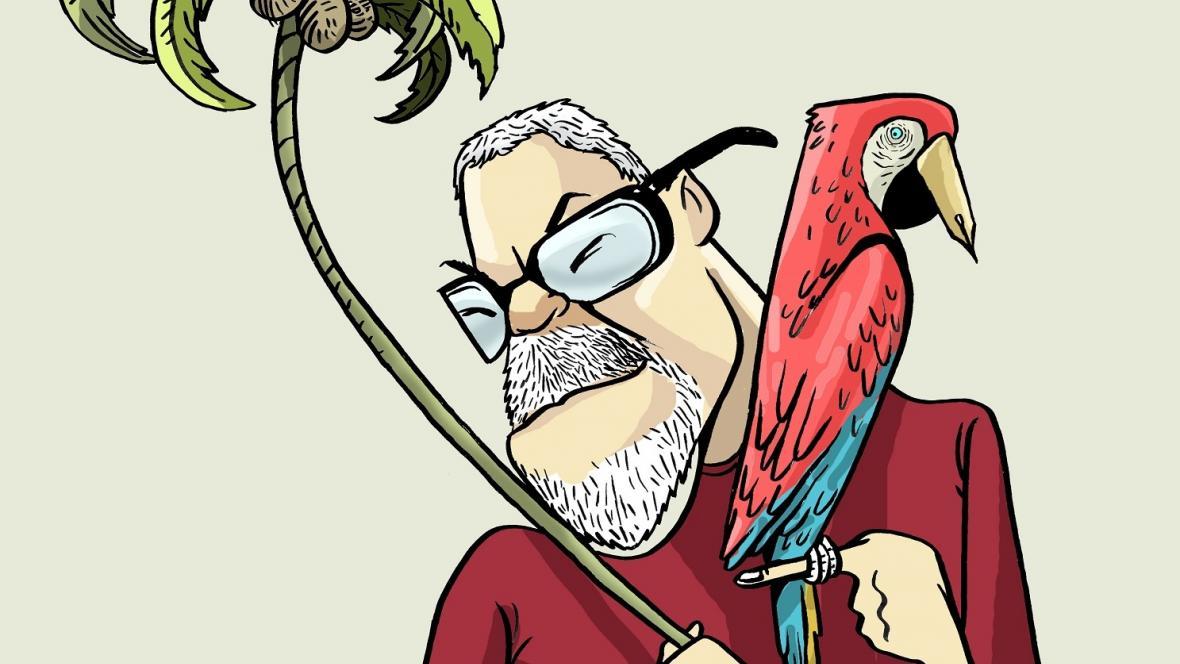 Ilustración del escritor cartagenero Roberto Burgos Cantor.