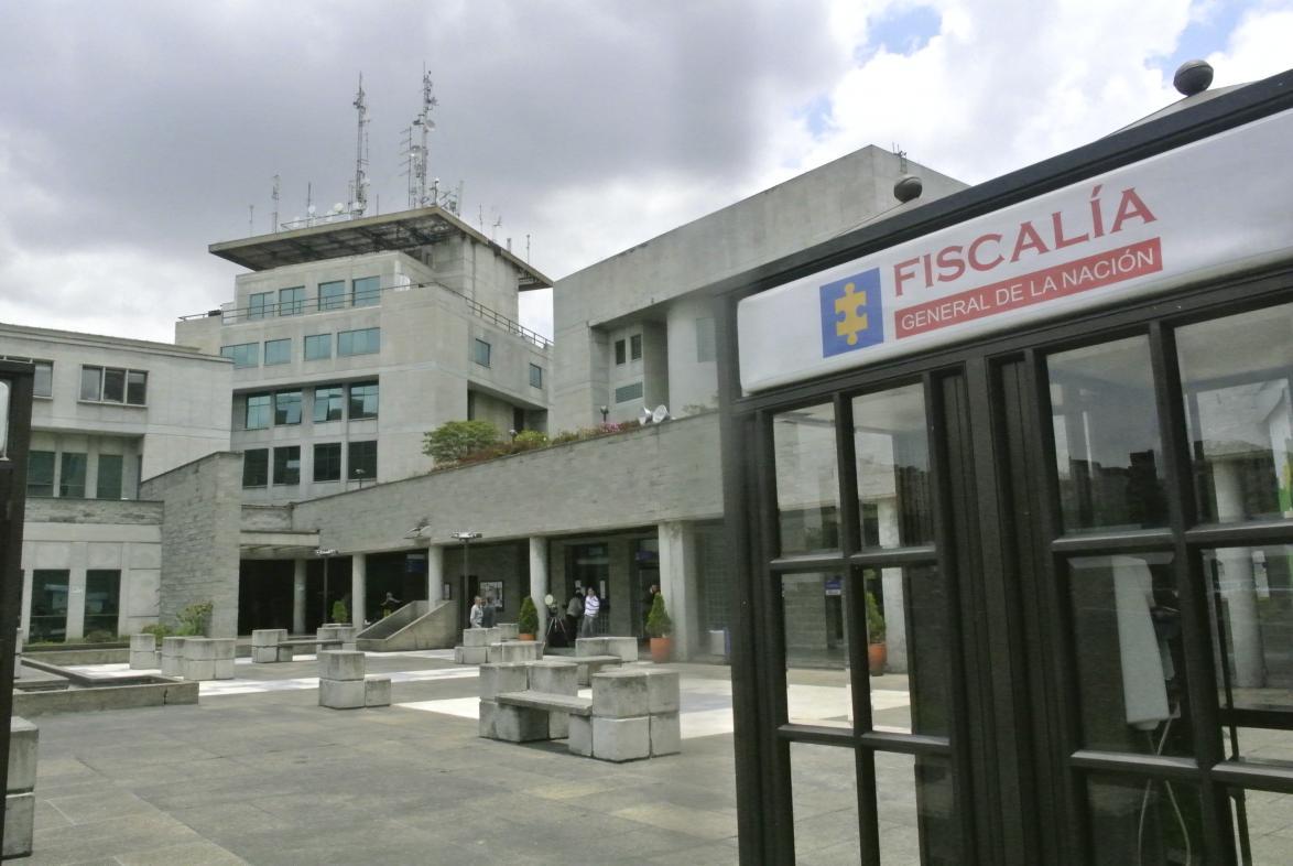 Fachada de las instalaciones de la Fiscalía General en la ciudad de Bogotá.