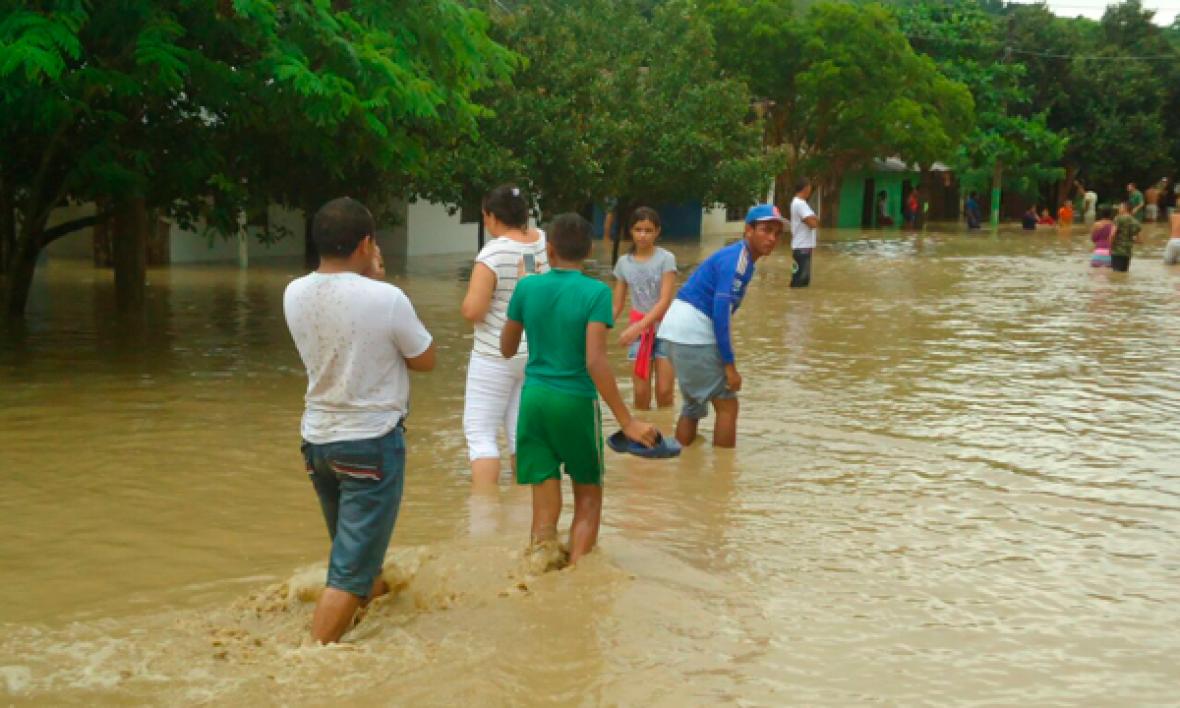 Inundaciones en El Guamo, Bolívar.