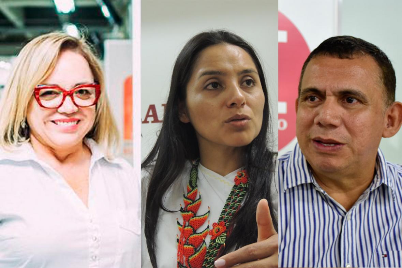 Claudia Rodríguez, Ati Quigua y Máximo Noriega.