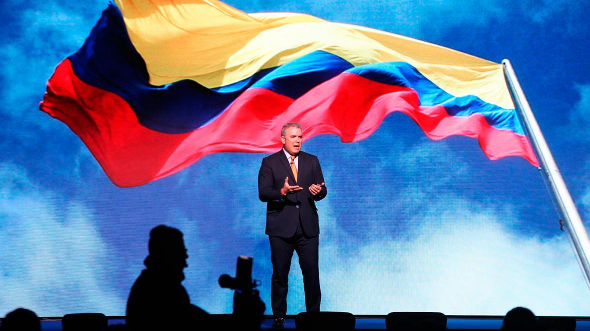 Iván Duque durante la Cumbre de Concordia Américas 2018, que se celebra en Bogotá.