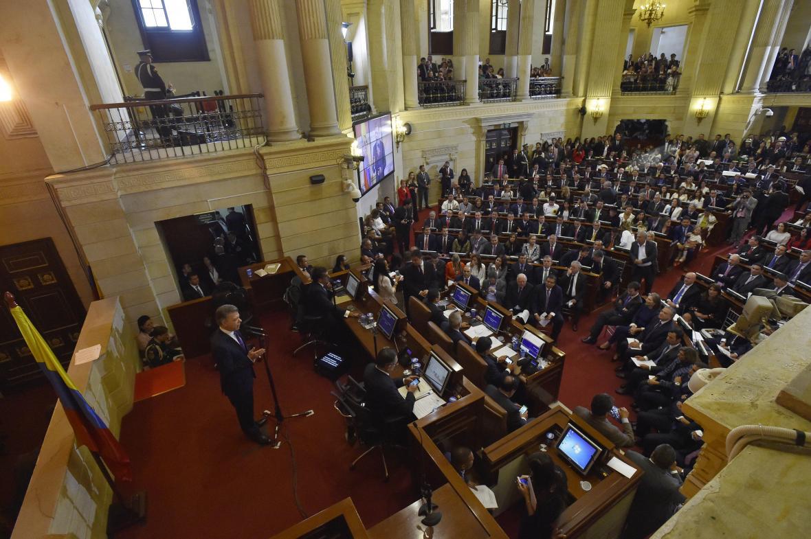 Acto de instalación de la legislatura 2018-2022 del Congreso de la República.