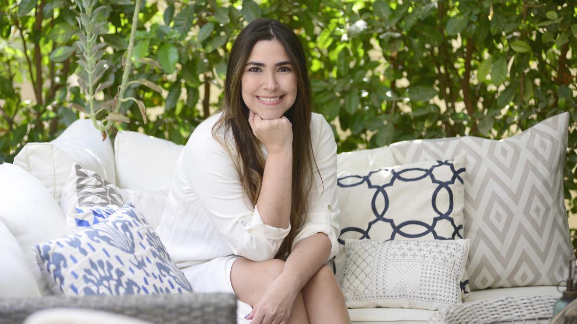 La diseñadora barranquillera Tatiana Robles.