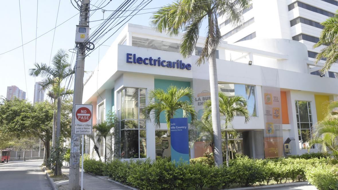 Fachada de una de las sedes de Electricaribe, ubicada en el norte de Barranquilla.