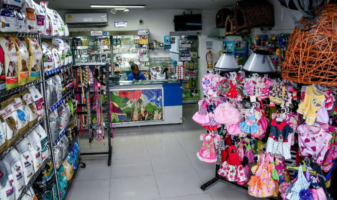 Comercio en veterinaria Mis Mascotas.