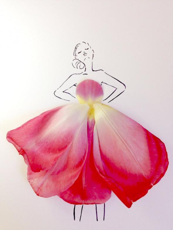 Los Vestidos Con Pétalos De Flores Naturales Que Causan Revuelo En