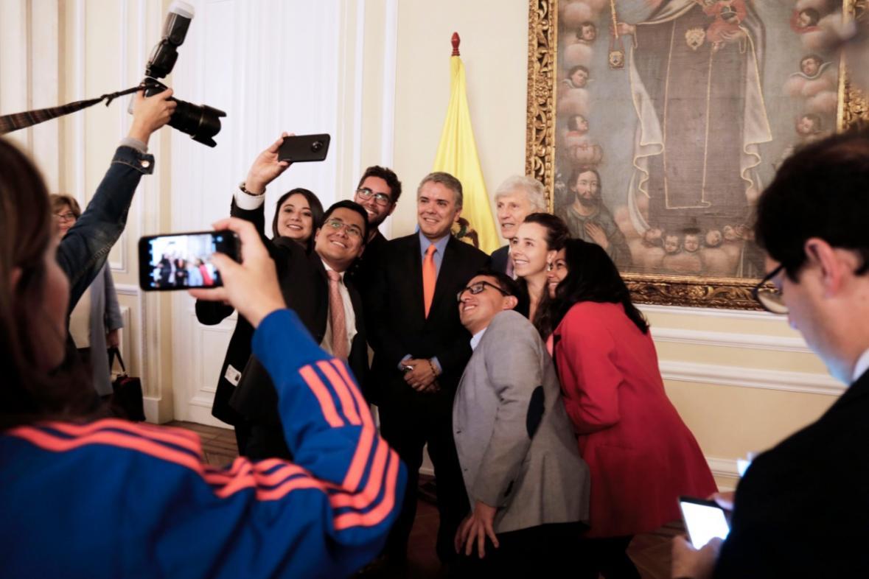 Presidente Iván Duque en homenaje a Pékerman: