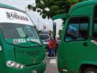 Aspecto de la protesta de conductores de buses en uno de los puntos en Soledad.