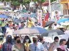 Marcha de centrales obreras en Barranquilla.