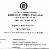 Vea aquí el fallo completo de la JEP sobre el caso Santrich