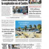 """""""Extorsionistas, detrás de la explosión en el Centro"""""""