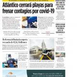 Atlántico cerrará playas para frenar contagios por covid-19