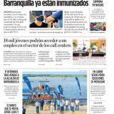 Más del 50 % de los vacunados en Barranquilla ya están inmunizados