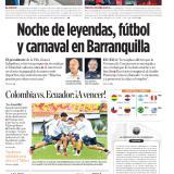 Noche de leyendas, fútbol  y carnaval en Barranquilla