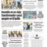 Incendio en viejo transformador causó apagón en Barranquilla