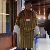Los hombres con falda en la cumbre de la Interpol