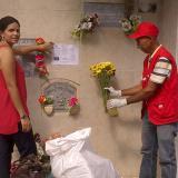 El cementerio de Santo Tomás fue uno de los primeros en los que se adelantó la jornada de limpieza y erradicación de floreros con agua.