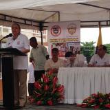 Al evento, liderado por el Ministerio de Vivienda, asistió la ministra de Ambiente, Luz Helena Sarmiento, en representación del Gobierno.