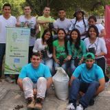 El grupo de jóvenes que integran Barranquilla+20.