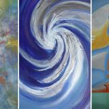 Tres pintores en Combarranquilla Country