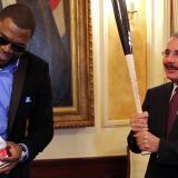 Presidente dominicano recibe a David Ortiz