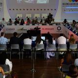 Víctimas del conflicto, gobernantes y empresarios, durante el tercer Encuentro Regional Caribe - Orinoquía.