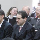 Los primos Miguel, Guido y Manuel Nule, en una de las audiencias en Paloquemao por el carrusel de la contratación.