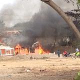 Incendio en Cartagena.