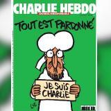 """Esta fue la portada con la que """"Charlie Hebdo""""  regresó a los kioscos tras el atentado de enero."""