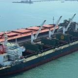 Panorámica del puerto carbonífero de la compañía Drummond Colombia ubicado en el Magdalena.