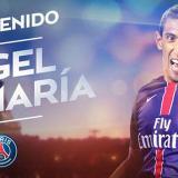 Así le dio la bienvenida el club francés al jugador argentino Ángel Di María.