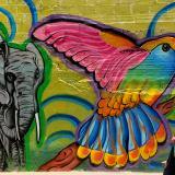 Parte del mural realizado por Fayastata y Matos One, en la Vía 40 con 67 (esquina).
