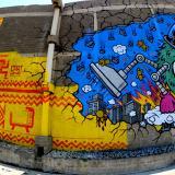 Los murales de Sidunor fueron intervenidos por los franceses Cart'1 y Jace.