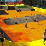 Escenario que servirá para la práctica del skaters.