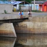 Brazo del río Magdalena que llega a Las Compuertas, corregimiento de Manatí, uno de los municipios en alerta.