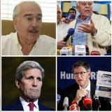 Andrés Pastrana, Felipe González, John Kerry y José Miguel Vivanco.