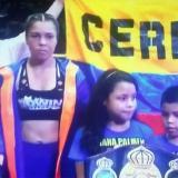 Liliana Palmera retuvo por tercera vez el título mundial supergallo de la AMB