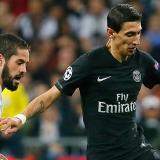 Ándel Di María durante el partido de la cuarta jornada de la Liga de Campeones contra PSG.