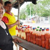 Delia Trujillo, o 'Yeyo', es famosa por la venta de ají picante. Es la única mujer que se dedica al oficio.