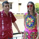 Héctor Buitrago y Andrea Echeverri, en el hotel Windsor, a su llegada a Barranquilla.